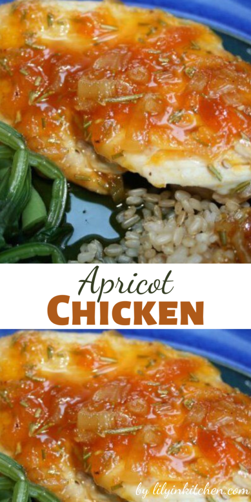 I love love love this apricot chicken recipe. I love it so much I have a difficult time thinking of anything else to do with chicken breasts.