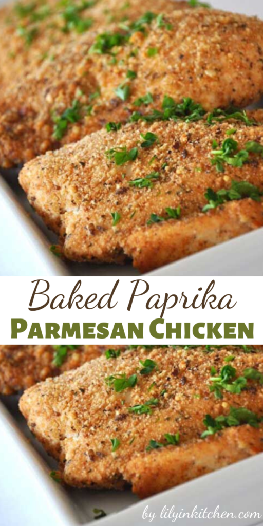 The unique combination of ingredients in this Baked Paprika-Parmesan Chicken makes a fantastic dish that all your family will love.