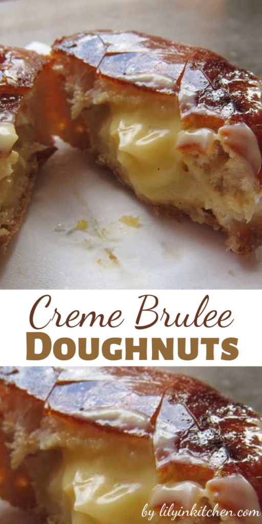 This recipe for Creme Brulee Doughnuts puts a twist on a French classic, by turning a Crème Brulee into a decadent pastry treat!