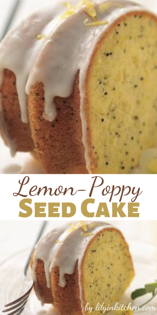 The secret to moist, flavorful lemon-poppy seed cake is to start with lemon cake mix! Let your microwave speed your way to an easy lemon glaze.