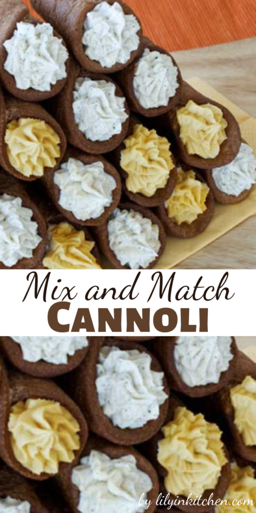 Behold the perfect after dinner treat, Mix and Match Cannoli. They're cute, single-serving, and delicioso!