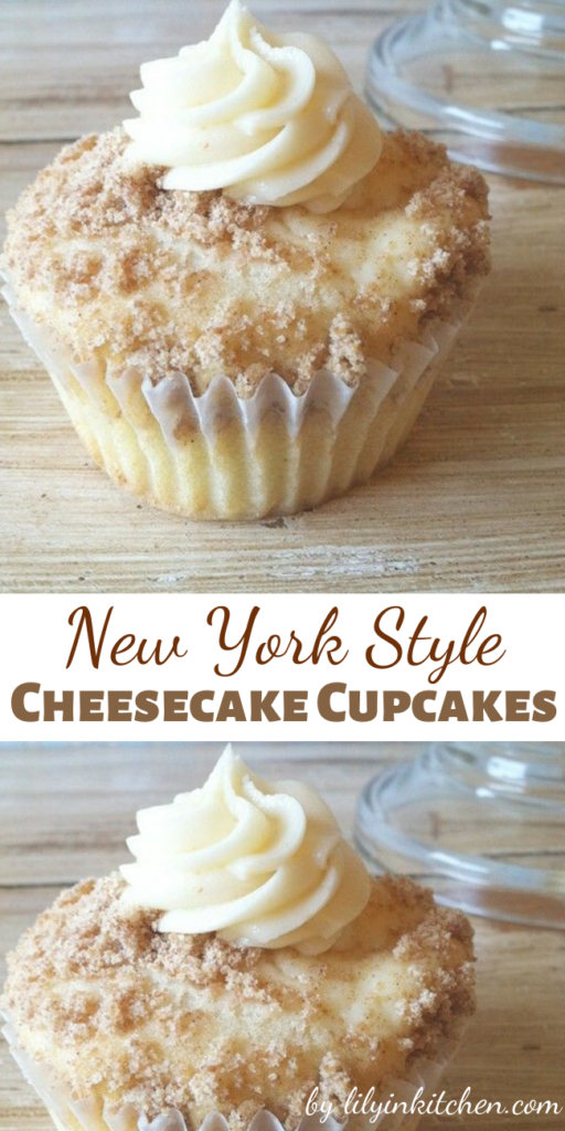 When I make these New York Style Cheesecake Cupcakes, people just RAVE about them! The crumbled graham crackers sprinkled on top add the flavor of a cheesecake base.