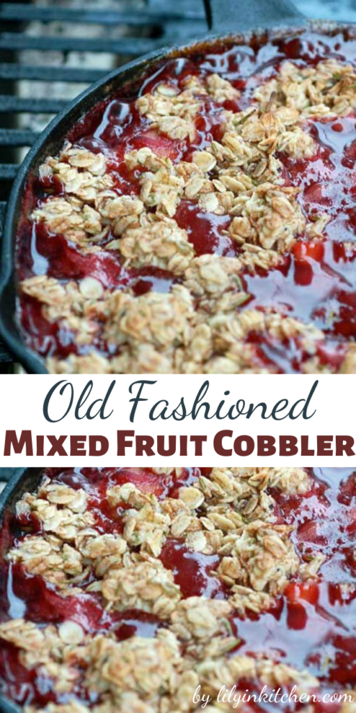 An old fashioned mixed fruit cobbler can be one of the easiest and tastiest ways to feature seasonal fruits, and this one is beyond fantastic.