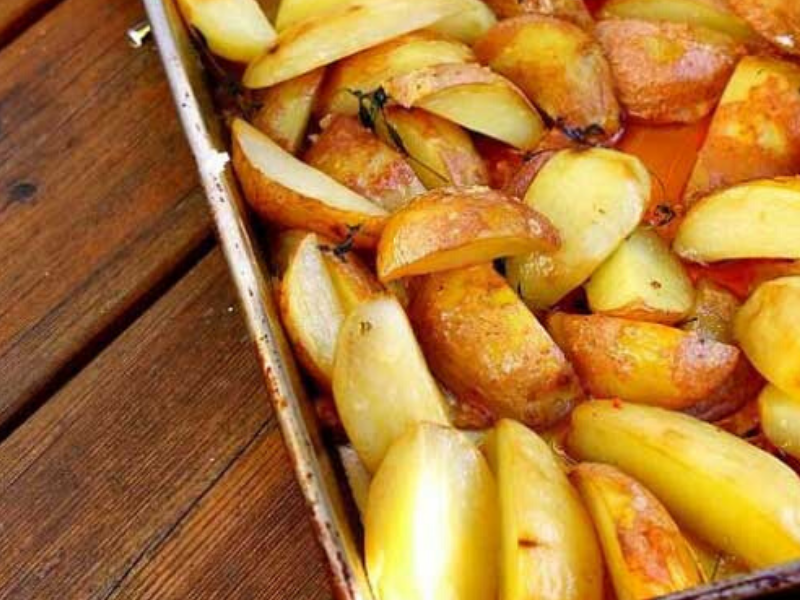 Potato Wedges with Thyme and Sea Salt