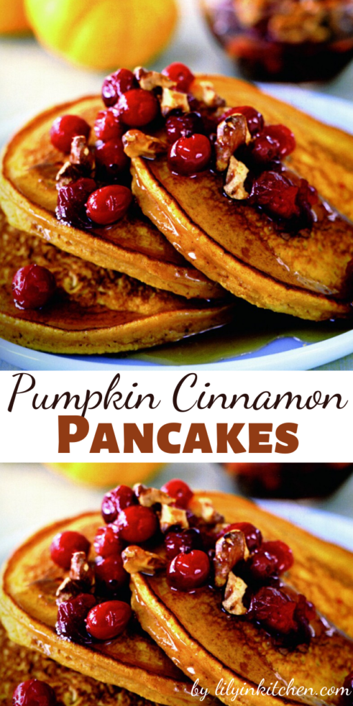 Fall is almost upon us so it is time to start thinking pumpkin. And what better way to start than with these Pumpkin Cinnamon Pancakes for breakfast.