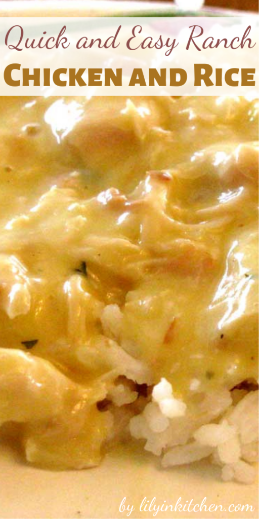 You know those days when you get home in the evening after spending a day running like mad, and you need a dinner idea? This Quick and Easy Ranch Chicken and Rice is that idea, and it's perfect for those times.