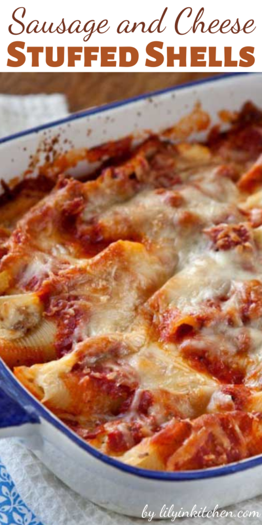Now, if this hearty, homey, stick-to-your-ribs, Italian Sausage and Cheese Stuffed Shells doesn't hit the spot, I don't know what will.