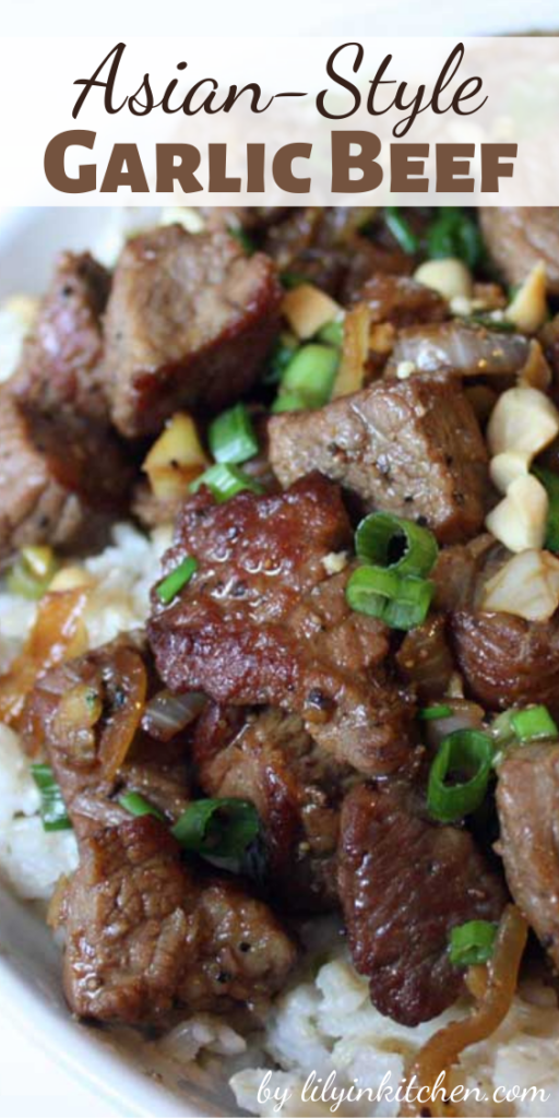 If you want an easy Asian dish that packs a punch…look no further than this Asian-Style Garlic Beef!