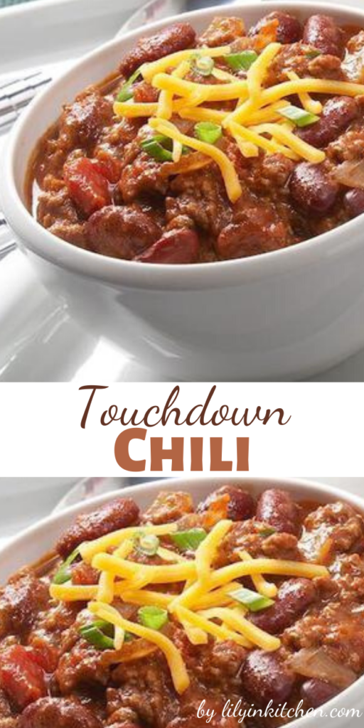 Recipe for Touchdown Chili – This chili is so quick and easy to prepare that you won't miss one second of the game.
