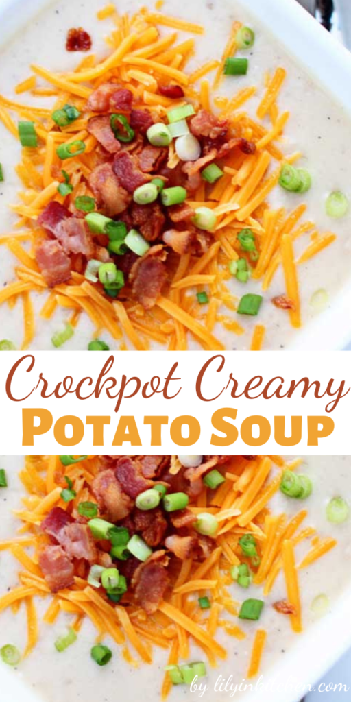 It took me less than 10 minutes to throw this Crockpot Creamy Potato Soup together, and it is the best Potato soup I've ever made.