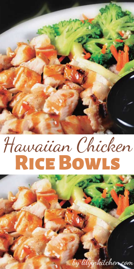 Recipe for Hawaiian Chicken Rice Bowls – This chicken recipe reminds me of my last trip to Hawaii. When my family started making the yummy noises, I knew I had a winner.