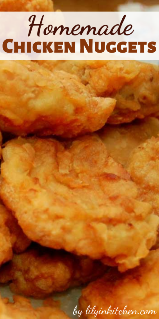 Homemade Chicken Nuggets – The best part is knowing exactly what's in these little chicken goodies and knowing there aren't any preservatives or mystery ingredients either.