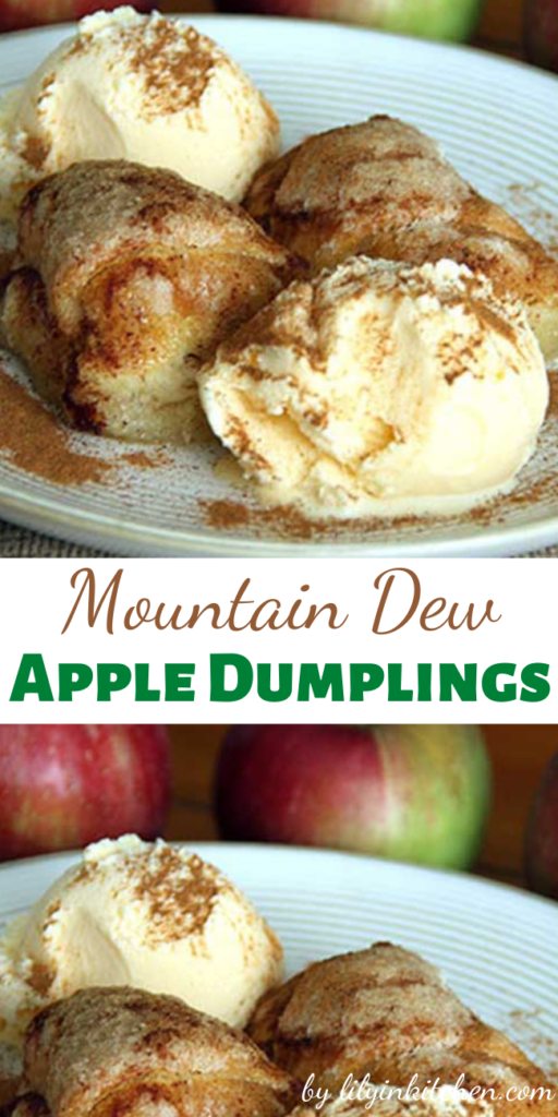 Recipe for Mountain Dew Apple Dumplings – Super tasty apple dessert that truely is way easier than pie!