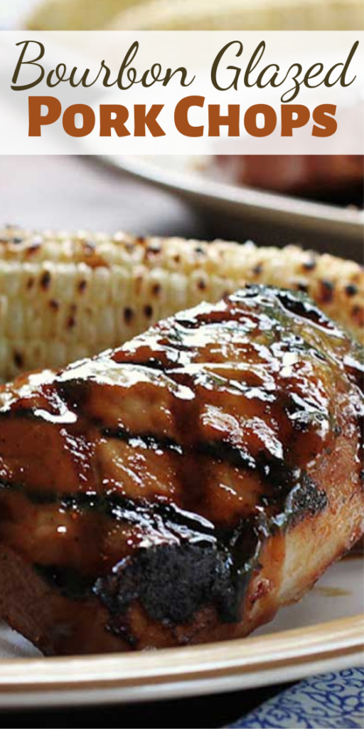 Pork chops drowned in a boozy sauce, these Bourbon Glazed Pork Chops are so good you will want to lick the plate!