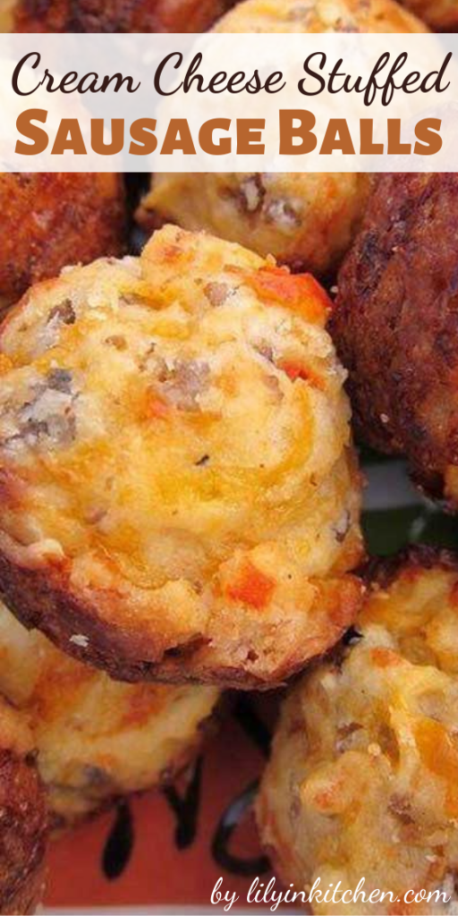 This recipe for Cream Cheese Stuffed Sausage Balls will change the way you make sausage balls forever! Seriously THE BEST sausage balls EVER!