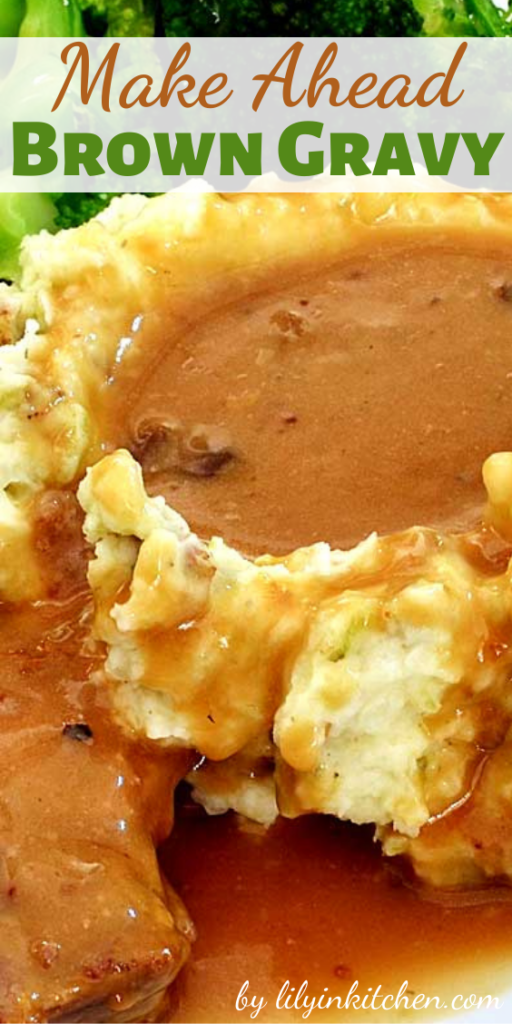 Scratch made gravy, like this Make Ahead Brown Gravy, blows away anything you can buy premade. With a little extra effort, you can make the BEST gravy you ever had…sorry grandma.