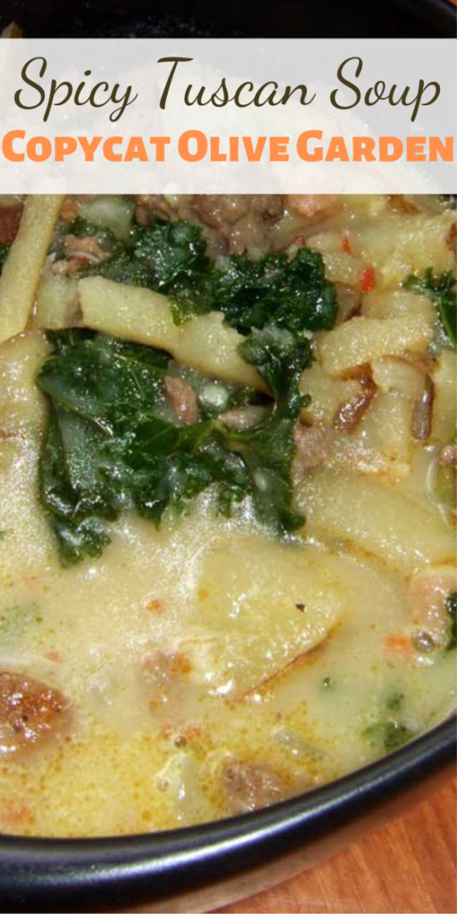 This Spicy Tuscan Soup is my all-time, never-to-be-beat, absolute FAVORITE soup. It's my version of a Tuscan soup served at a certain Italian chain restaurant that rhymes with Schmolive Garden. It's spicy, smooth, hearty and warm. So very good.