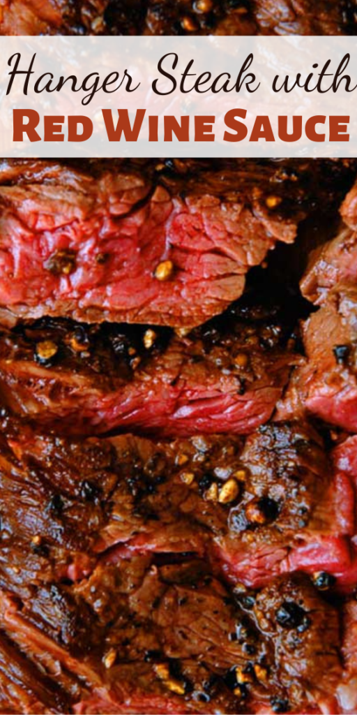 This Hanger Steak with Red Wine Sauce recipe gives you a melt in your mouth, delicious hanger steak. Without the fancy steakhouse prices taking a bite out of your wallet.