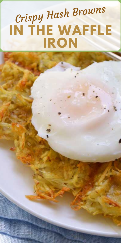 If you like crispy edges, these Crispy Hash Browns – in the Waffle Iron are the hash brown for you. Not to mention, they are just about the easiest thing ever.