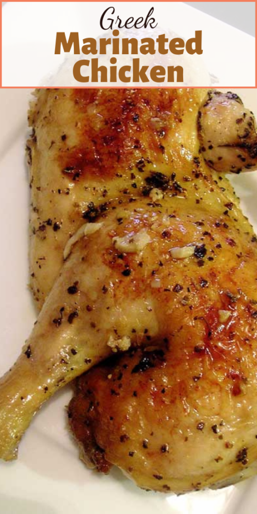 This Greek Marinated Chicken is beyond incredible. The marinade takes just a few minutes to stir together and creates an absolute explosion of flavor.