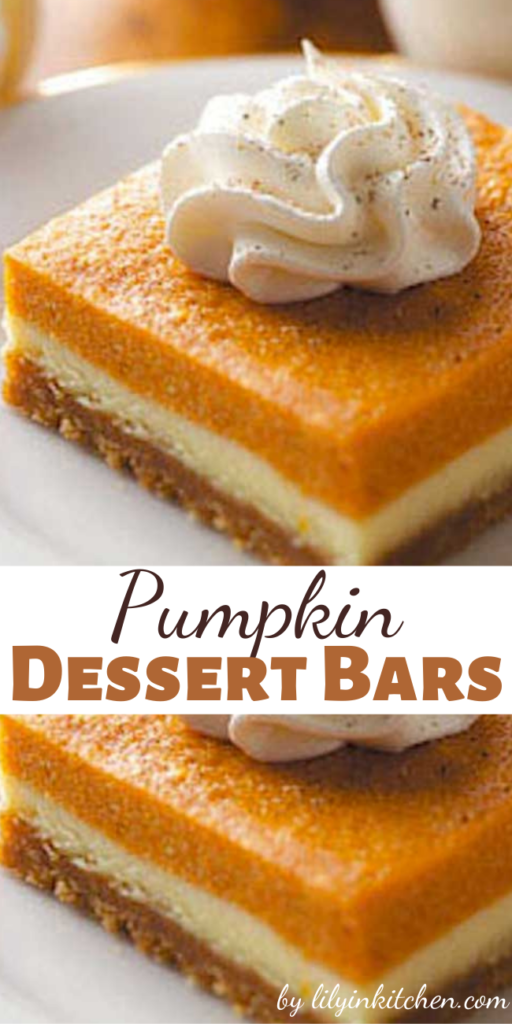 There's no need to be stuck with plain pumpkin pie. These Pumpkin Dessert Bars are a great way to change it up, while keeping the pumpkin pie flavor that you love!