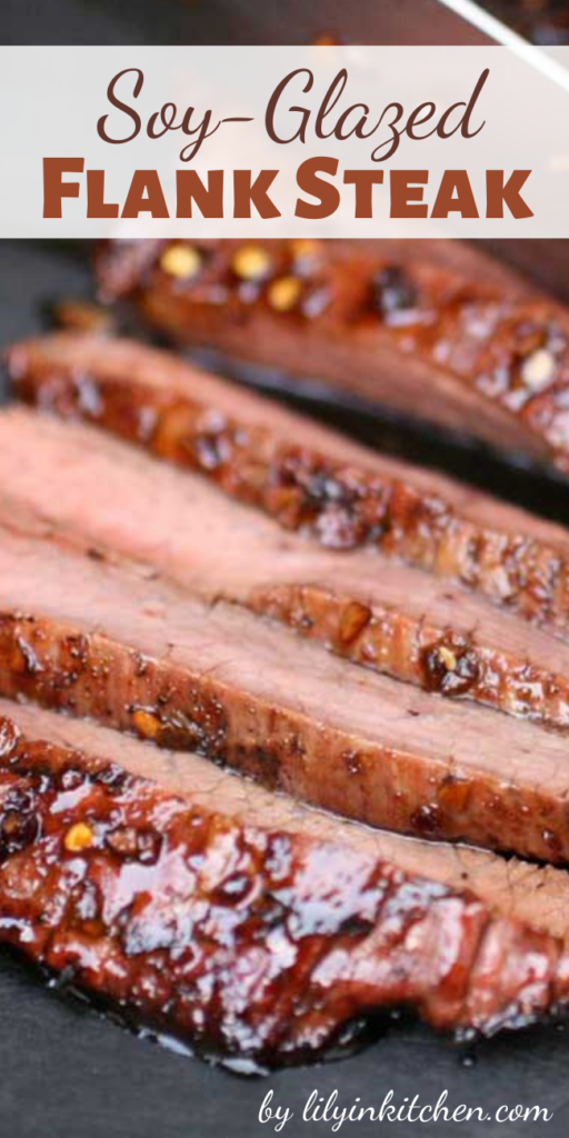 This Soy-Glazed Flank Steak turned out just great — thin, tender slices of sweet, smoky meat– punched up by sock-'em Asian flavors that really amp up the wow-factor.