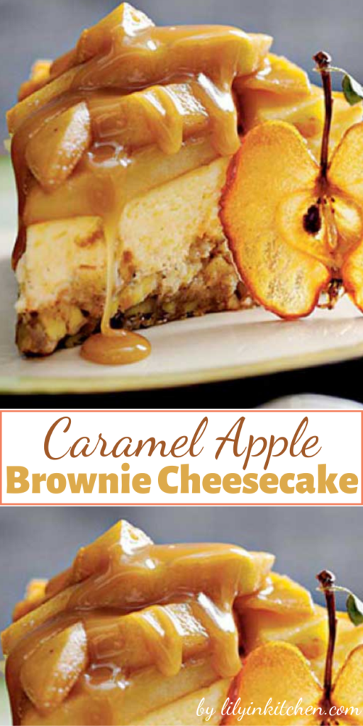 Recipe for Caramel Apple-Brownie Cheesecake – Combine two of fall's favorite flavors—caramel and apples—in this decadent cheesecake. The crust is an apple filled brownie, and the creamy cheesecake is topped with a caramel-apple topping and a rich caramel sauce.