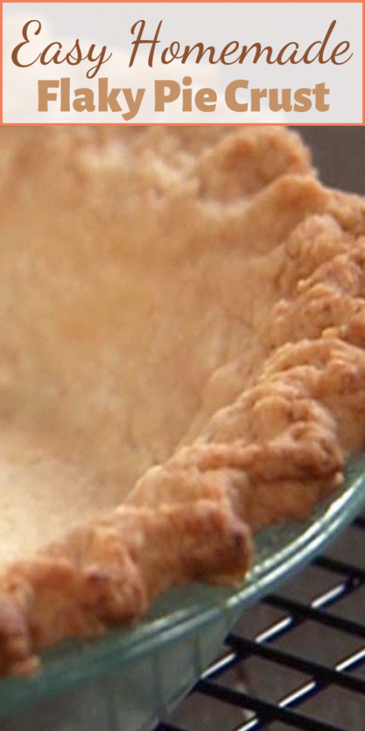 """There is no need to buy frozen when pie crusts when this Easy Homemade Flaky Pie Crust is so super simple to make. """"The trick to good pie crust is to be gentle and treat it very lightly."""