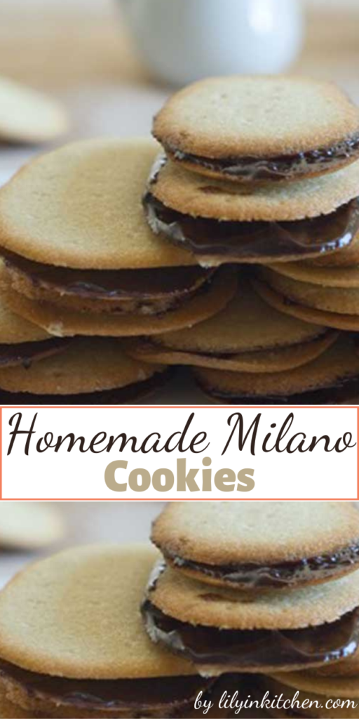 There is no need to buy the bagged version when you can make these Homemade Milano Cookies yourself this easily.