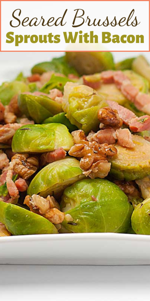 Most people I know dislike brussels sprouts – which is a shame, as this little green dudes are made of health. But bacon? Everybody loves bacon, and anything with bacon tastes great…just like these Seared Brussels Sprouts With Bacon!