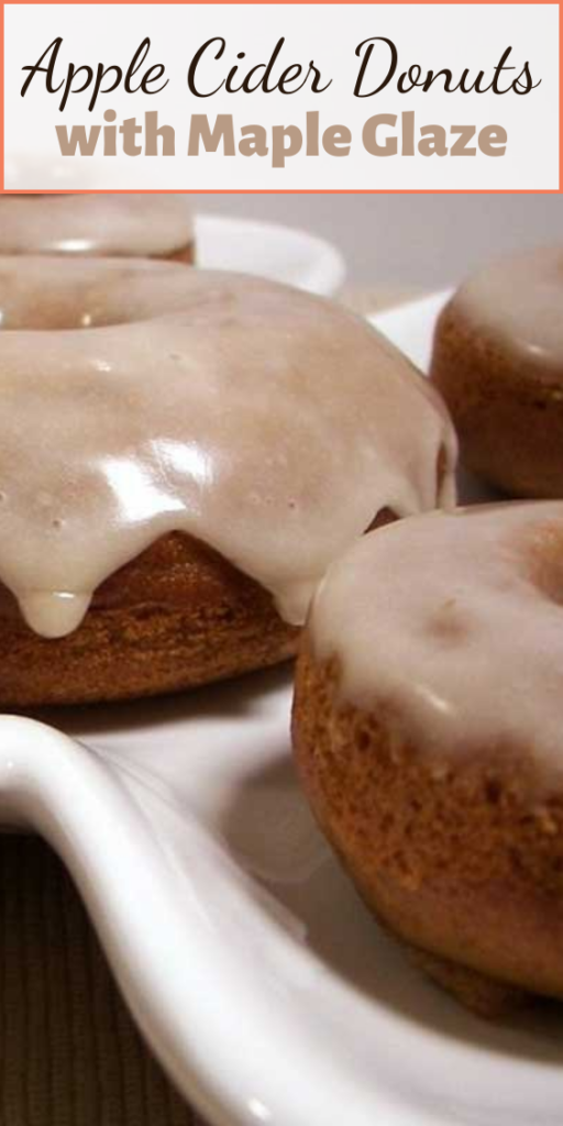 These Baked Apple Cider Donuts with Maple Glaze are seriously the best baked donuts ever! Moist, apple-spiced flavor dipped in the tastiest maple glaze known to man.