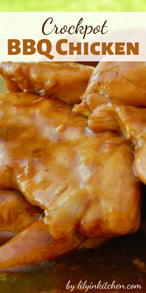 This Crockpot BBQ Chicken is another great recipe in my collection of family favorite crockpot dinners. It's been pretty eventful around here.  So the easier the dinner, the better.