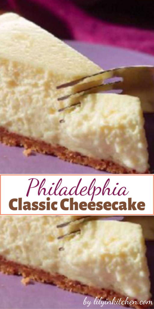 This PHILADELPHIA Classic Cheesecake is the real deal—everything you imagine a cheesecake recipe to be. Creamy. Rich. Delicious. Plus, you made it yourself.